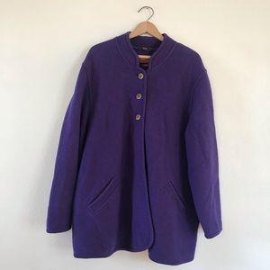 Vintage Royal Purple Geiger Wool Coat 💜